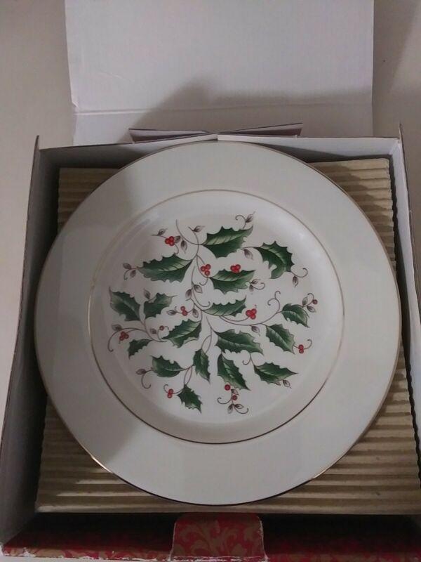 Royal Limited Holly Holiday Set of 4 Salad Plates