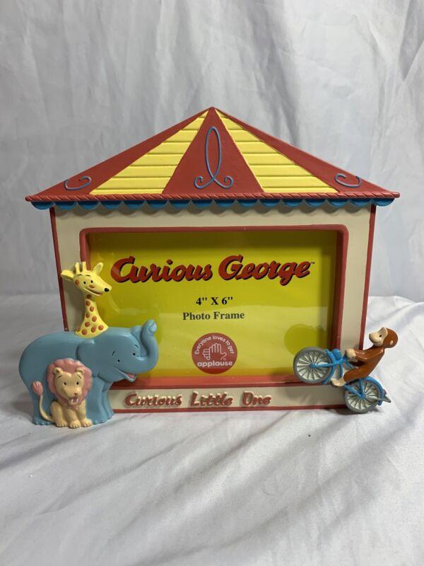 "RARE- NEW Curious George ""CURIOUS LITTLE ONE"" 4x6 Photo Frame"