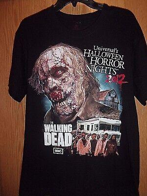 Halloween Horror Nights Walking Dead Shirt (2012 Halloween Horror Nights Walking Dead black graphic L t shirt)