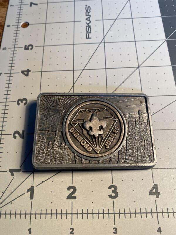 Diamond Jubilee Belt Buckle Boy Scout 75th Anniversary BSA 37C-470N