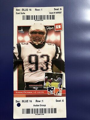New England Patriots Full Ticket Stub Tom Brady v Cleveland Browns Win#75 3TDs