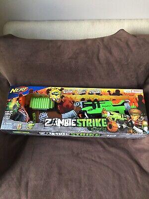 Nerf Zombie Strike SlingFire Blaster Rifle Gun with 25 Dart Drum & 31 Darts New