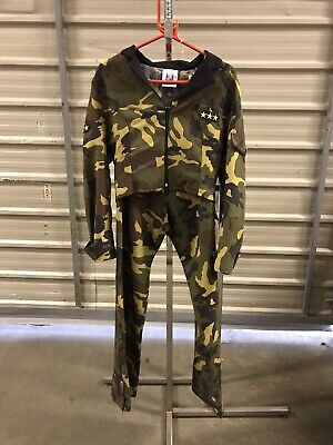 Army Costume Hire (ex hire fancydress costumes - Army Girl Camouflage Jacket & Trousers -)