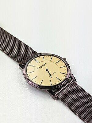 Stuhrling Original Kysterna Crystal Copper Color Watch Slim Minimal