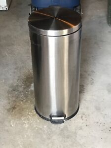 Garbage Can - Stainless Steel - $20