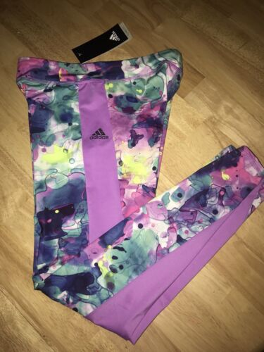 ADIDAS GIRLS/' AOP TIGHTS BNWTS Choose Your Size