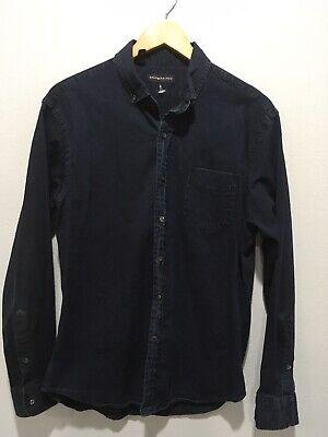 Ralph Lauren Mens Denim Cotton Blend Shirt Indigo Sz L (nwot)