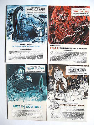 Things to Come   Science Fiction Book Club   1959   lot of 4