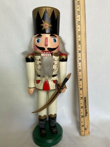 "13.5"" WOODEN NUTCRACKER by Heinrich C Preis Made in West Germany"
