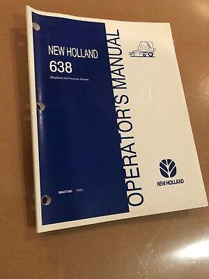 2001 New Holland 638 Baler Operators Manual Book 86637560