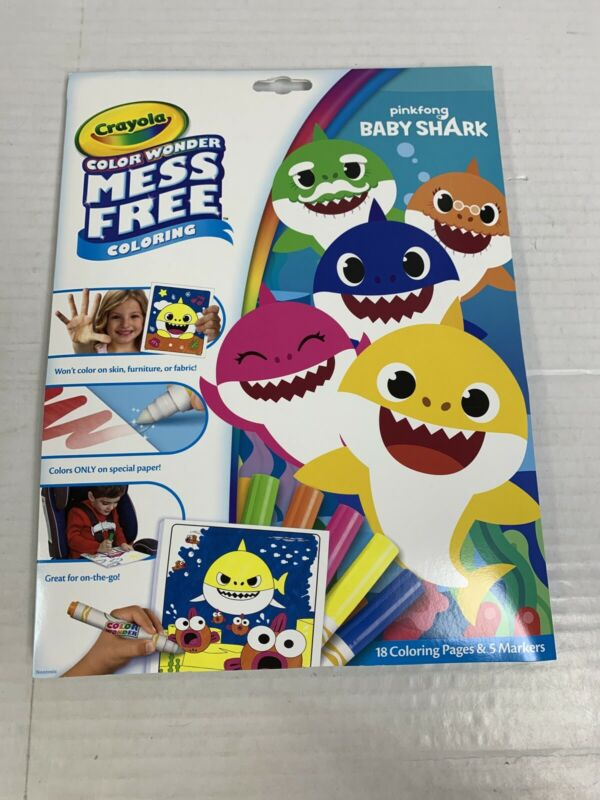Crayola Color Wonder Mess Free Coloring Baby Shark New