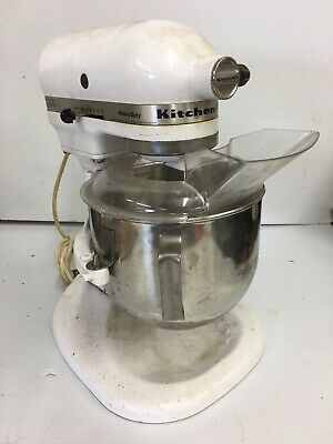 Kitchenaid K5S Mixer & Bowl only~White~Works Fine All Speeds