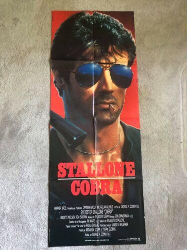 cobra sylvester stallone poster original door france rare