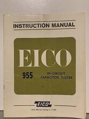 Orignal Eico 955 In-circuit Capacitor Tester Instruction Manual