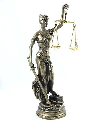 Greek Goddess Look (GREEK GODDESS THEMIS STATUE BRONZE TONE BLIND LADY JUSTICE 10 INCH LAWYER)