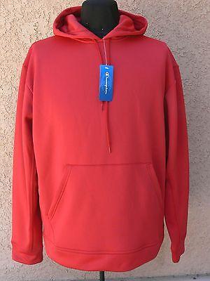 (NWT! Champion Men's Hoodie Fleece Pullover Long Sleeve Sweatshirt SCARLET Sz. L)
