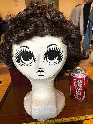 Carmen Mannequin Manikin Head Hat Display Woman Sticker Face 70's Retro