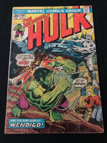 The Incredible Hulk # 180 1st  App Wolverine Cameo 1974 Marvel comics