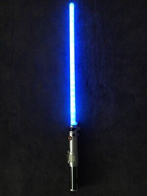 "Star Wars Hasbro 2010 Ultimate FX Blue Lightsaber C-2945A 34"" Cosplay Luke Rey"