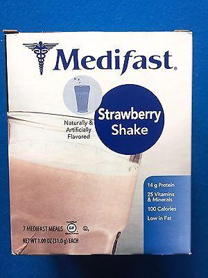 Medifast Strawberry Shake   7 Meals W Box   Fresh   Free Shipping