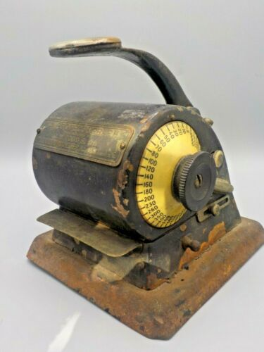 Antique The Protectograph Check Writing Printer Machine G.W.Todd Works!