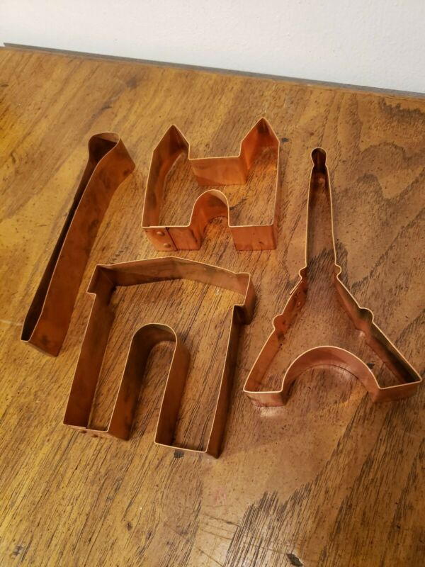 VINTAGE KITCHEN COLLECTABLES OMAHA  SOLID COPPER RARE COOKIE CUTTER LOT