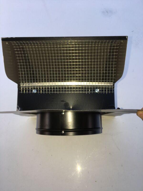 """Black Roof Cap 7"""" Goose Neck Vent Galvanized Steel Ventilation HVAC Accessories"""