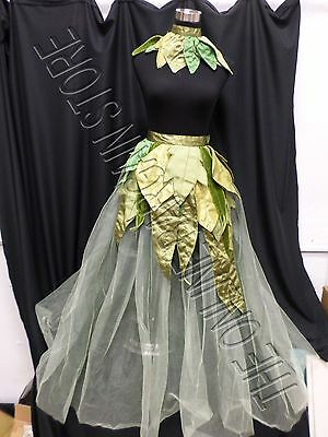 Grandinroad Halloween Leaf Garden Tulle Fairy Skirt Collar Costume Green L/XL](Grandinroad Halloween)