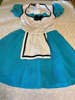 Leg Avenue Sexy Alice In Wonderland Costume Dress Womens Large Halloween -