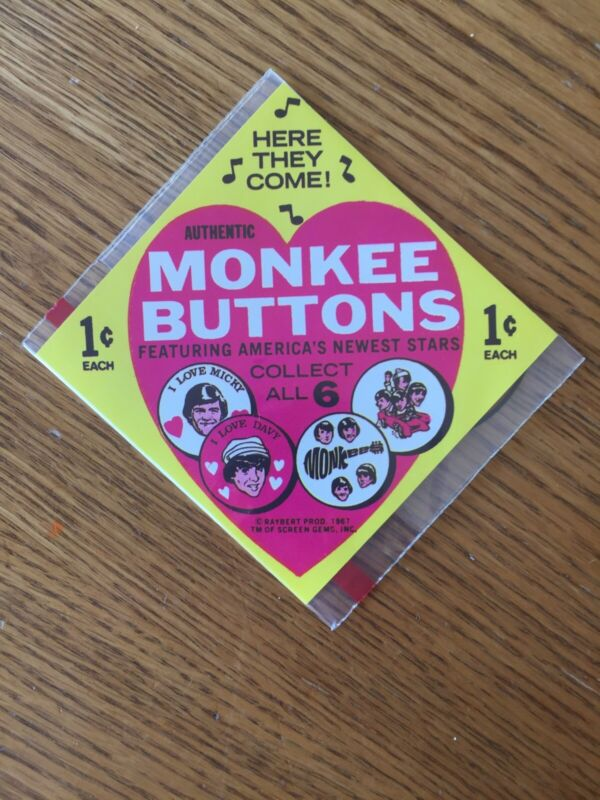 RARE Monkees Promotional Advertisement for Collectable Valentine