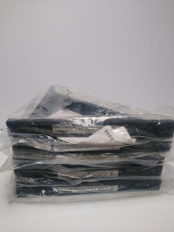 "LOT OF 5 Ikea Ekby Valter Wood Shelf Bracket Design 11 "",  1 Bracket Black NEW"