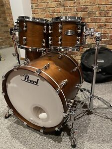Pearl Reference Pure drum kit in Matte Walnut with cases and hardware