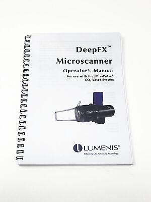 Lumenis Ultra Pulse Co2 Laser Deep Fx Micro Scanner Handpiece Operators Manual