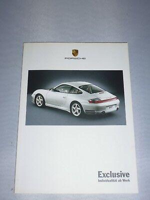 originales Porsche Buch / Broschüre  Exclusive (Individualität ab Werk)