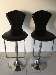 Black Leather Bar Stools Morley Bayswater Area Preview