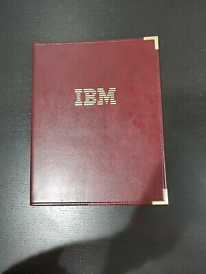 Ibm Writing Pad Leather Portfolio Vintage 1983 Tan-tar-a Oct 12-14 Hazel