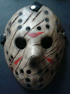Friday The 13th Freddy Vs Jason Halloween Mask Battle Damaged Voorhees - Friday The 13 Vs Halloween