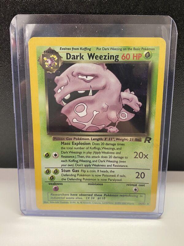 Dark Weezing 14//82 LP//NM Near Mint Team Rocket Rare Holo Pokemon Card