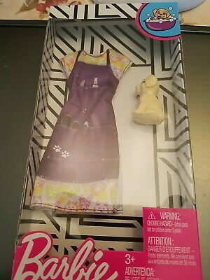 NEW BARBIE MATTEL DOLL FASHION CLOTHES DOG GROOMER OUTFIT WITH SMALL PUPPY