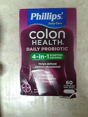 Phillips Daily Care Colon Health Daily Probiotic 60 Capsules 05/2023