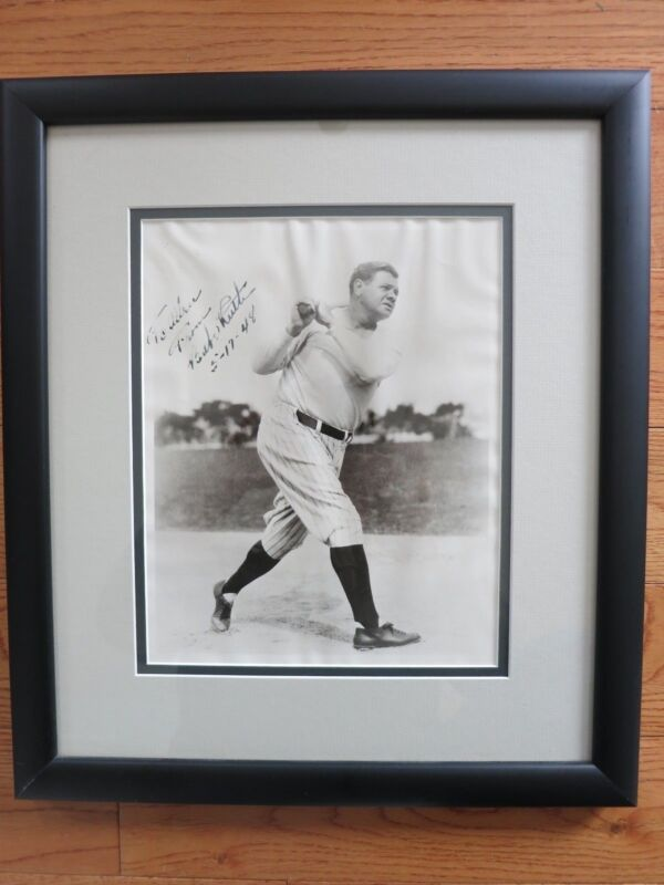 BABE RUTH SIGNED 8X10 PHOTO JSA AND MIKE GUITERREZ COA! YANKEES AUTOGRAPHED RARE