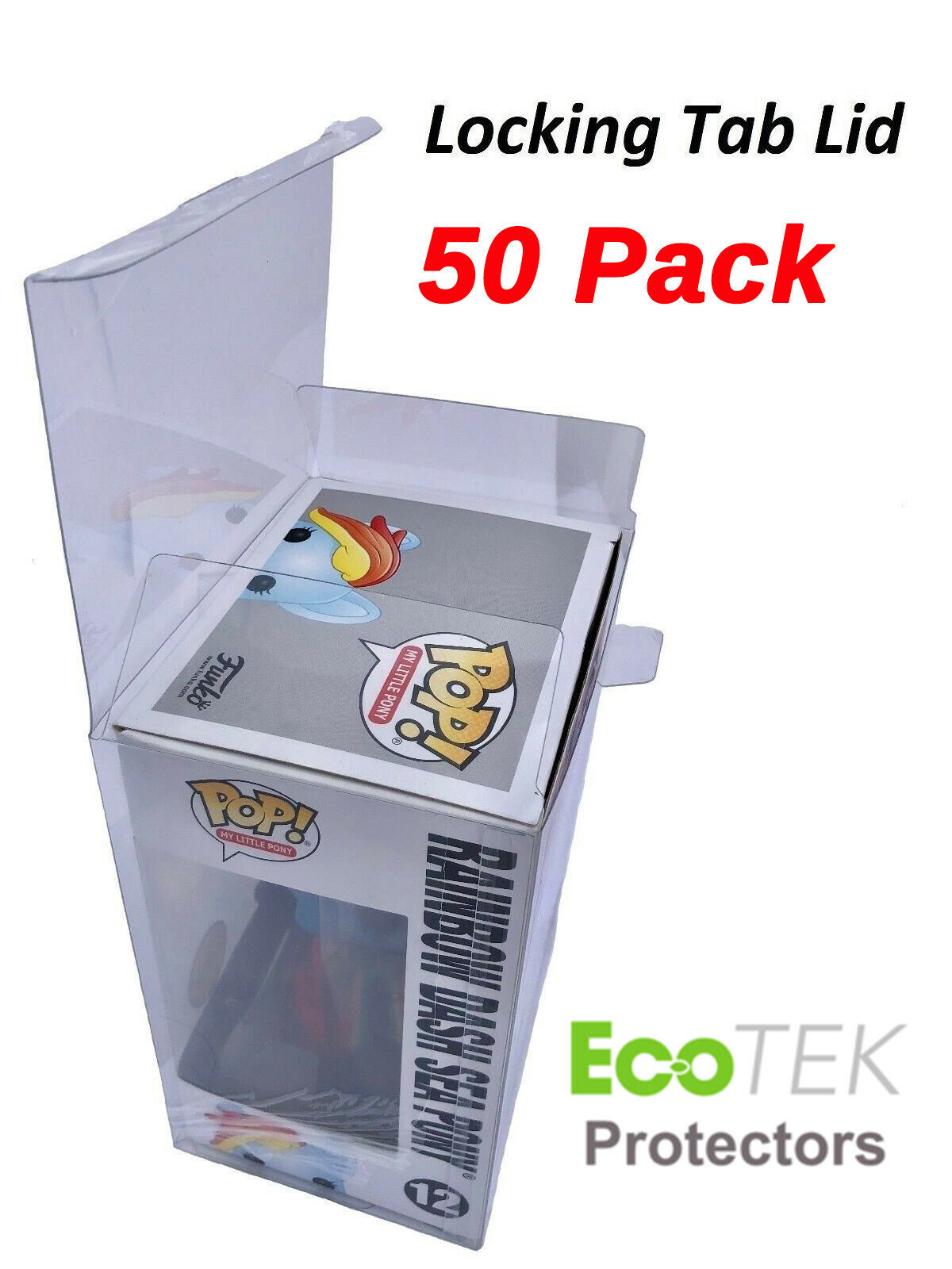 50 Funko POP Acid-Free Crystal Clear Strong Protector case F