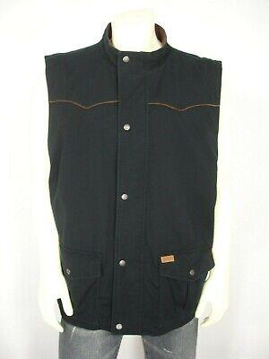 OUTBACK TRADING CO BLACK CANVAS COTTON FLEECE LINED TOP HAND VEST MEN'S XXL  Outback Canvas Vest