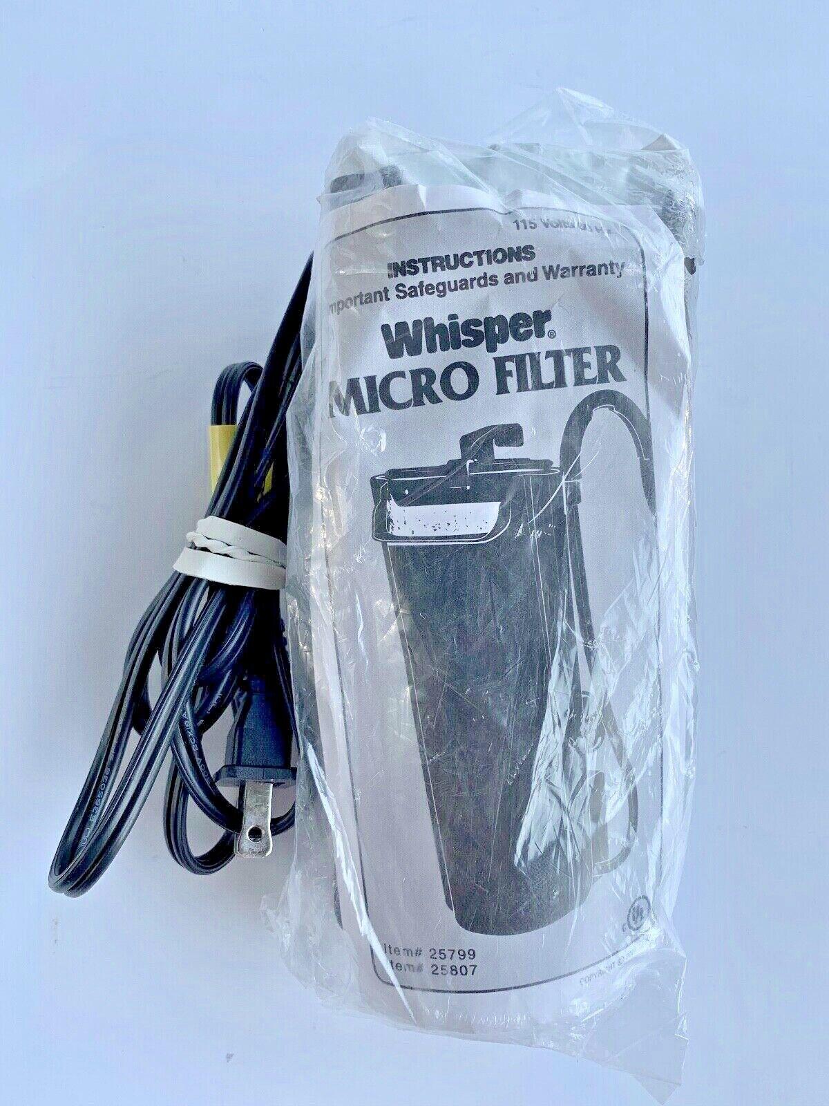 AQUARIUM WHISPER Micro Filter Model 25799/25807. - $19.99