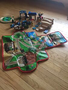 Thomas the Train wooden set with carry case/playmat