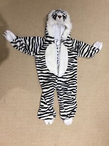 Toddler white tiger costume size 2/3 36""