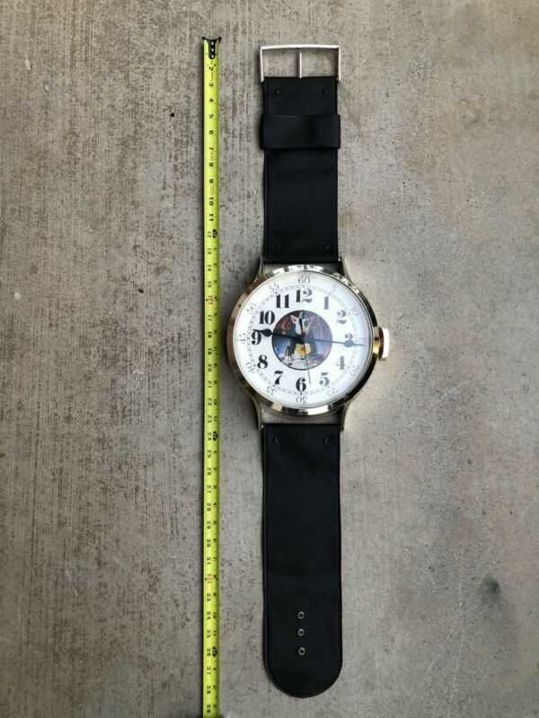"Vintage Spuds Mackenzie ""Wrist Watch"" Wall Clock Bud Light Budweiser Beer"