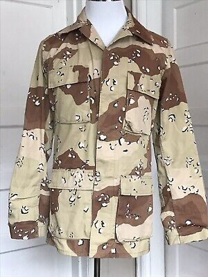 US Military Issue BDU ACU Army Shirt Jacket Desert Camo Fatigue Small Long ()