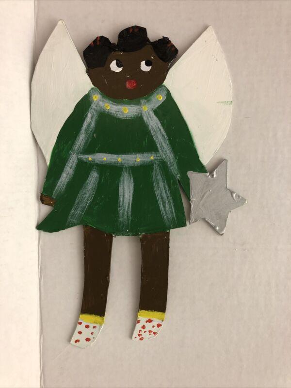 Stephanie Durham Folk Art, Angel, Original On Heavy Paper