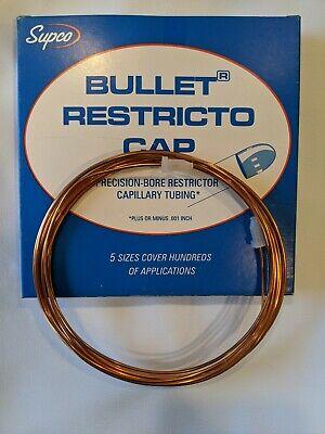 Bullet Restricto Cap Refrigeration System Tubing .093od X .040 Id X 12 Bc2